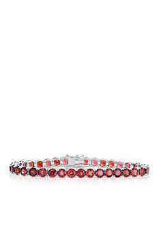 Belk & Co. Garnet Bracelet in Sterling Silver