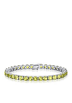Belk & Co. Peridot Bracelet in Sterling Silver