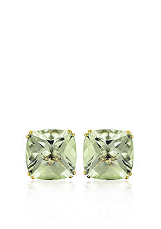 Belk & Co. 14k Yellow Gold Green Amethyst Stud Earrings