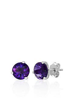 Belk & Co. Sterling Silver Amethyst Stud Earrings