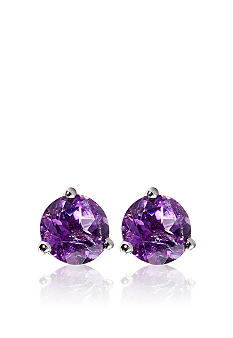 Belk & Co. 14k White Gold Amethyst Stud Earring