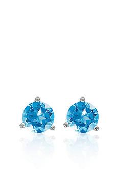 Belk & Co. Sterling Silver Blue Topaz Stud Earrings