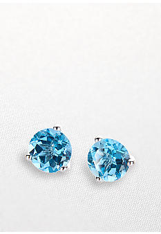 Belk & Co. 14k White Gold Blue Topaz Earrings <br>