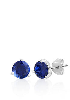 Belk & Co. Sterling Silver Created Sapphire Stud Earrings