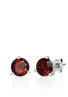 Belk & Co. Sterling Silver Garnet Stud Earrings