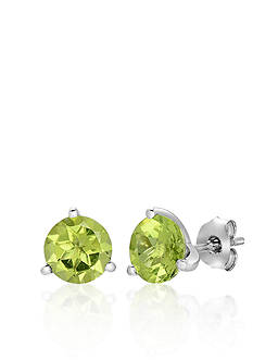 Belk & Co. Sterling Silver Peridot Stud Earrings