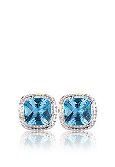 Belk & Co. Sterling Silver Blue Topaz Earrings <br>