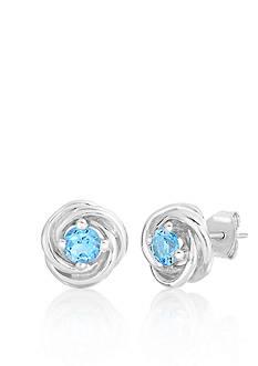 Belk & Co. Sterling Silver Blue Topaz Knot Earrings