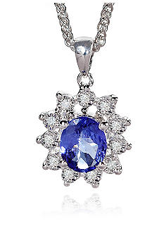 Belk & Co. Sterling Silver Tanzanite Diamond Pendant
