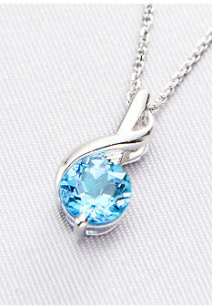 Belk & Co. Sterling Silver Blue Topaz Pendant <br>