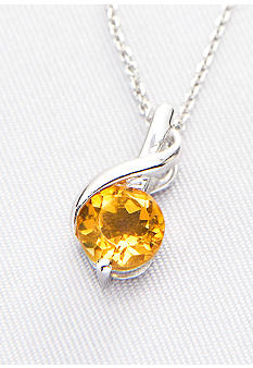 Belk & Co. Sterling Silver Citrine Pendant