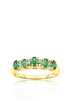 Belk & Co. 10k Yellow Gold Emerald and Diamond Ring