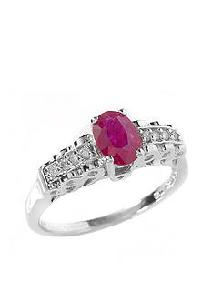 Belk & Co. Sterling Silver Oval Ruby Ring