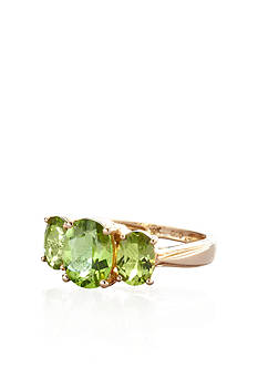 Belk & Co. 10k Yellow Gold Peridot Ring