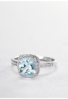 Belk & Co. Aquamarine and Diamond Ring