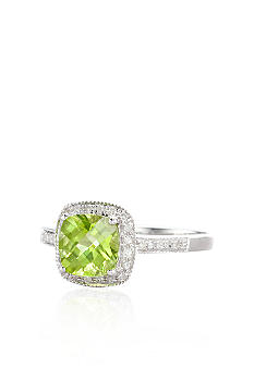 Belk & Co. 10k White Gold Peridot and Diamond Ring