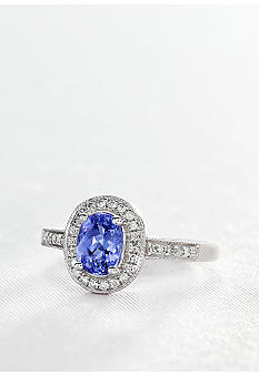 Belk & Co. Sterling Silver Tanzanite and Diamond Ring