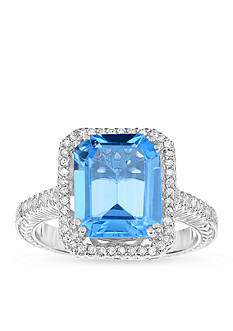 Belk & Co. Genuine Blue Topaz Diamond Ring