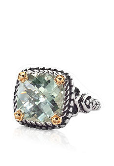 Belk & Co. Sterling Silver and 14k Gold Green Amethyst Ring