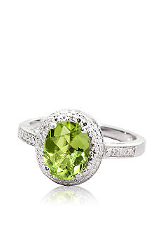 Belk & Co. Sterling Silver Peridot & Diamond Ring
