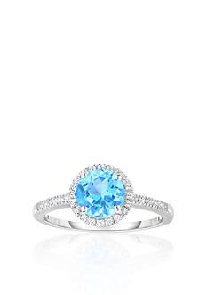 Belk & Co. 10k White Gold Blue and White Topaz Ring