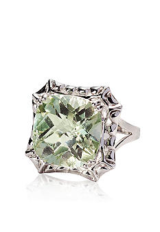 Belk & Co. Sterling Silver Green Amethyst Ring