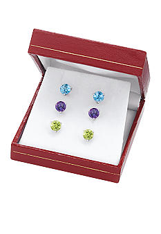 Belk & Co. Sterling Silver Multi Gemstone Earring Box Set