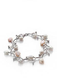 Belk & Co. Sterling Silver White and Pink Keshi Freshwater Pearl Bracelet