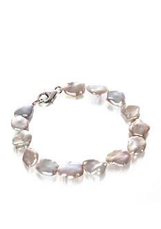 Belk & Co. Sterling Silver Mauve Keshi Freshwater Pearl Bracelet