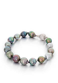 Belk & Co. Drop Shape Tahitian Black Pearl Bracelet