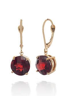 Belk & Co. 14k Yellow Gold Garnet Earrings
