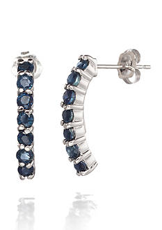 Belk & Co. 14k White Gold Sapphire Earrings