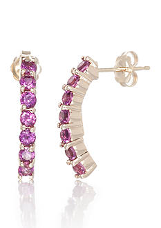 Belk & Co. Rhodolite Garnet and Diamond Earrings in 14k Yellow Gold