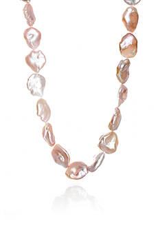Belk & Co. Keshi Pearl Necklace in Sterling Silver