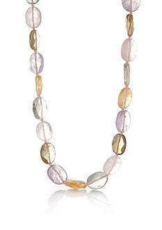 Belk & Co. Sterling Silver Multi Color Quartz Necklace