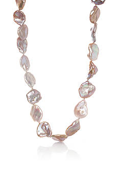 Belk & Co. Sterling Silver Mauve Keshi Freshwater Pearl Necklace