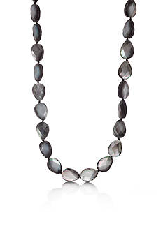 Belk & Co. Sterling Silver Tahitian Mother of Pearl Necklace