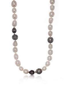 Belk & Co. Tahitian and Freshwater Pearl Strand Necklace