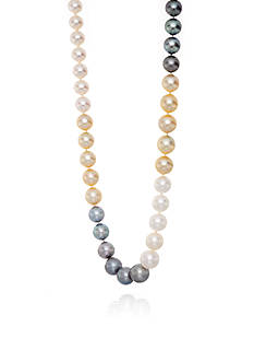 Belk & Co. 14k Yellow Gold Multi Pearl Necklace
