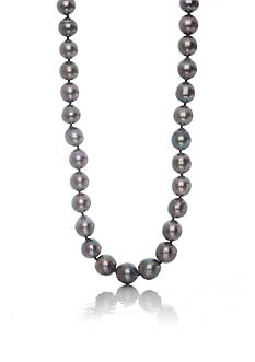 Belk & Co. Sterling Silver Tahitian Black Pearl Necklace