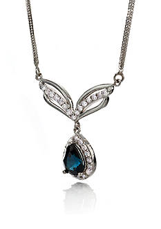 Belk & Co. 14k White Gold Sapphire and Diamond Necklace