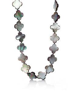 Belk & Co. Sterling Silver Black Mother of Pearl Clover Necklace