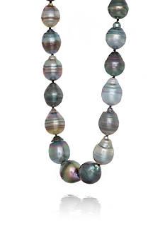 Belk & Co. Multicolor Circle Baroque Tahitian Pearl Necklace