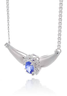 Belk & Co. Tanzanite and Diamond Necklace in 14k White Gold