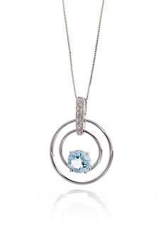 Belk & Co. Aquamarine and Diamond Ring in 14k White Gold