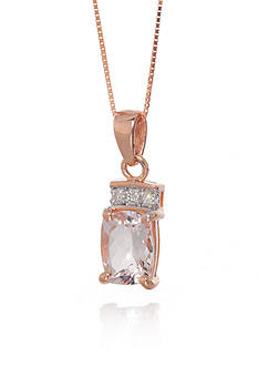 Belk & Co. Morganite and Diamond Pendant in 14k Rose Gold