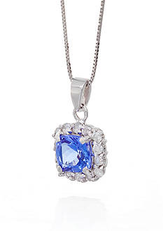 Belk & Co. Tanzanite and Diamond Pendant in 14k White Gold