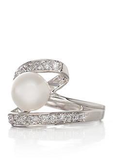 Belk & Co. 14k White Gold Freshwater Pearl and Diamond Ring