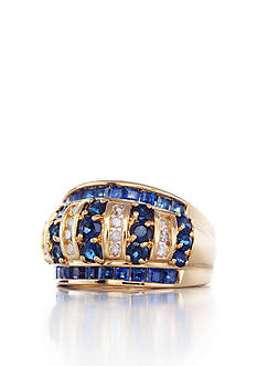Belk & Co. 14k Yellow Gold Sapphire and Diamond Band