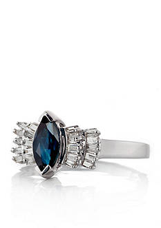 Belk & Co. 14k White Gold Sapphire and Diamond Ring